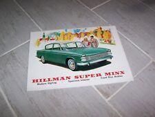 Catalogue / Brochure HILLMAN Super Minx 196? //