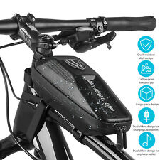 Front Frame Waterproof Bike Bag Cycling Bicycle Top Tube Pouch Phone Holder MTB