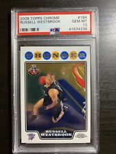 2008 Topps Chrome Russell Westbrook ROOKIE RC #184 PSA 10 GEM MINT