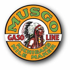 MUSGO GASOLINE MICHIGAN OIL SUPER HIGH GLOSS OUTDOOR 4 INCH DECAL STICKER