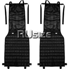 SET of 2pcs Tactical MOLLE/PALS Panel for Most Cars Seat Black Pouch Cover