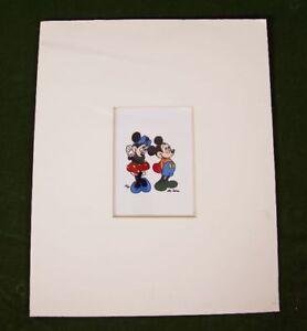 Disney Mickey Mouse & Minnie Cel, signiert Mo. Zasa, limitiert 25 / 30