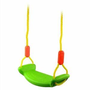 New Childrens Plastic Swing Seat Set Kids Fun Safety Adjustable Rope Tree Swings