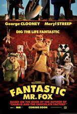 FANTASTIC MR. FOX Movie POSTER 27x40 George Clooney Meryl Streep Willem Dafoe