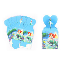6 LITTLE MERMAID ARIEL PARTY LOLLY LOOT BAG CANDY FAVOUR BOX PAPER BOX PARTY