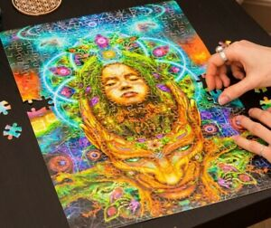 Psychedelic Puzzle, Fantasy Puzzle, Difficult Puzzle, UV Puzzle, Hippie Puzzle