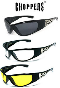 1 or 3 Pair(s) Choppers Sports Biker Sunglasses Motorcycle Riding Glasses UV400