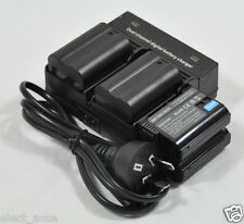 4x Battery+Dual Charger EN-EL15 EL15e for Nikon D800 D810 D810a D800s D800E D750