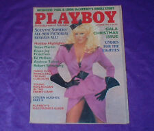 VINTAGE PLAYBOY ADULT MAGAZINE DECEMBER 1984 SUZANNE SOMERS PICTORIAL