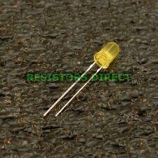 50pcs Round 5mm Yellow T1-3/4 LED 300 MCD Diffused HAM Radio US Seller 50x V22