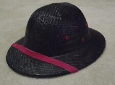 Hat Pith Safari Helmet Jungle Explorer Plastic Adult Costume Black Never Worn