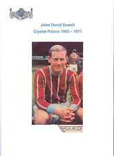 JOHN SEWELL CRYSTAL PALACE 1963-1971 ORIGINAL HAND SIGNED PICTURE CUTTING
