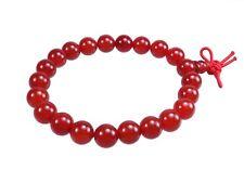 Ágata Rojo Alimentación Kugel-Armband Gema Perlas Perlas Buddah 8 Mm