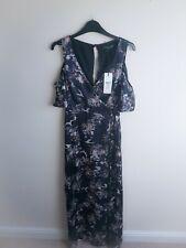 NEW Lipsy UK 10 Blue Floral Oriental Print Maxi Dress BNWT Michelle Keegan Range