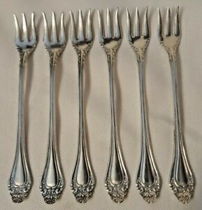 Royal Plate Co. Silverplate Seafood Forks, 1900 Oregon Pattern Set of 6