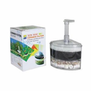 Air Operated Small Corner Filter, Air Driven Bio Aquarium Fish Tank Filter