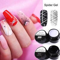 2Pcs NICOLE DIARY Black White Draw Painting Gel Nails Gellack Soak Off Nail Art