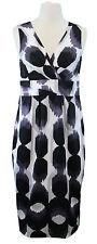 BODEN Women's Black/Multi Printed Sleeveless V-Neck Sheath Dress US Size 4 R NEW