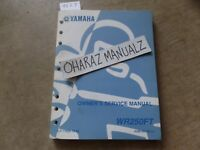2005 YAMAHA WR250FT Owner's Service Manual OEM