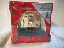New Reed & Barton Millennium Heart Angel Ornament #9200 Gold Plated Year 2000