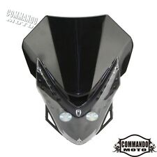 Street Fighter Motorcycle Head Light LED Fairings For Kawasaki Suzuki Yamaha Hot