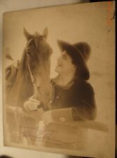 Silent Movie Cowboy Star William Farnum w Horse Stamp Signed Photograph