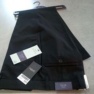 New Next Trousers Black Slim Fit 34 Regular work school