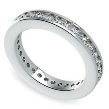 Eternity Diamond Band 2.00 Carat Round Cut H/SI1 Anniversary Ring White Gold