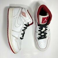 Nike Air Jordan 1 Mid BG Size 5Y White Gym Red 554725-103