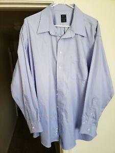 Joseph & Feiss Men's 18-1/2 34/35 Blue Slim Fit Non-Iron Long Sleeve Dress Shirt
