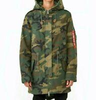 Alpha Industries Meri Fishtail Camo Green Field Coat M-65 Woodland Camo Women's