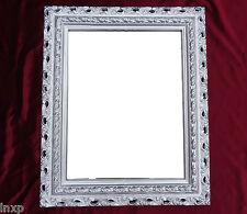 Muebles Antiguos Y Decoración Espejo De Pared 43x36 Barroco Rectangular Repro Plata Marco Fotos Arabesco 4