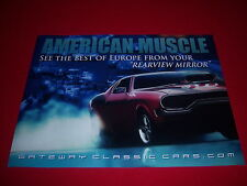 promo DODGE CHARGER poster-SEE THE BEST OF EUROPE FROM YOUR REARVIEW-muscle car