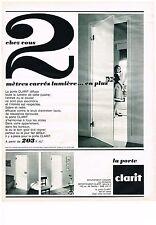 PUBLICITE ADVERTISING  1963   CLARIT  PORTES EN VERRE