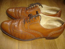 SAXONE chaussures richelieur cuir taille 11 = 45 made in Britain tres chic