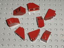 8 x LEGO DkRed slope bricks ref 3040b / Set 10216 75060 8092 20019 75013 75052..