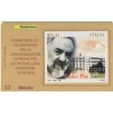 2002 Tessera Philatelie Unif. N.109 - Canonization Pater Pio MF62036