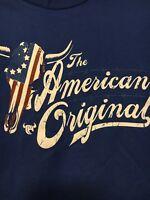 Boys Cowboy Hardware Size Medium Long Sleeve Logo Tee NWT The American Original