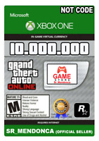 GTA 5 SHARK CARD XBOX ONE Grand Theft Auto V $10.000.000 (Read Description) cash