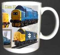 CLASS 37 BRITISH RAIL TRAIN MUG LIMITED EDITION GIFT RAILWAYS COLLECTOR SPOTTER