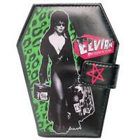 Kreepsville 666 Elvira Leopard Luggage Coffin Gothic Punk Horror Wallet WCELL