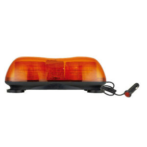 Mini Magnetic Double Beacon Recovery Rescue Strobe Warning Safety Lightbar Amber