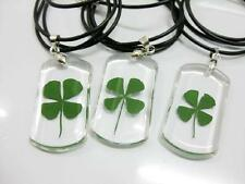 12 PCS Four Leaf Clover Pendant Charm Leaved Rare