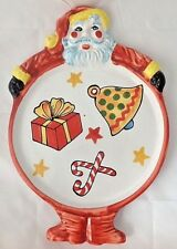 Vintage Ciao Italya by Bellini Santa Plate Platter Hand Painted RM Italy