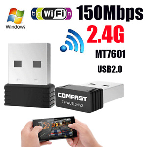 USB 2.0 Wlan Wifi Wireless LAN Stick Dongle Adapter 150Mbit 150Mbps Windows 10 7