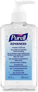 PURELL Advanced 70% Alcohol Hand Sanitizer Pump Top Bottle (1x 300ml Bottle)
