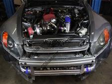 CXRacing Intercooler + Piping Kit + BOV For Honda S2000 F22 NA-T Black Hoses