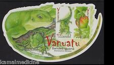 Reptiles, Banded Iguana, Vanuatu 2007 MNH Odd Shape SS