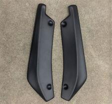 2Pcs Matt Black Universal Car Bumper Spoiler Rear Lip Wrap Angle Shovel Decor