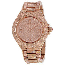 Brand New Michael Kors MK5862 Camille Rose Gold Tone Pave Glitz Ladies Watch